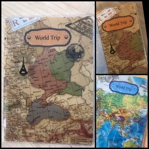 World Map Passport Cover / Holder
